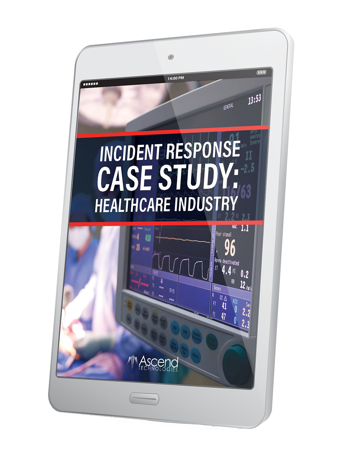 healthcare IR case study on tablet